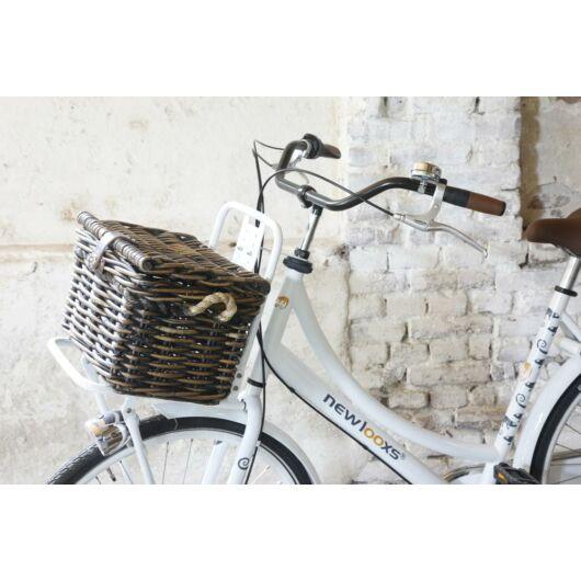 New Looxs Baskets Melbourne Medium bicikli kosár előre levehető bevásárláshoz Rattan