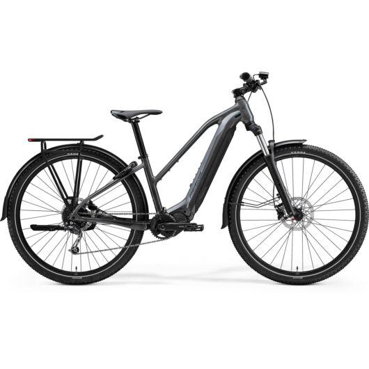 MERIDA kerékpár 2021 eBIG TOUR 400 EQ HIDEG SZÜRKE(MATT FEKETE)