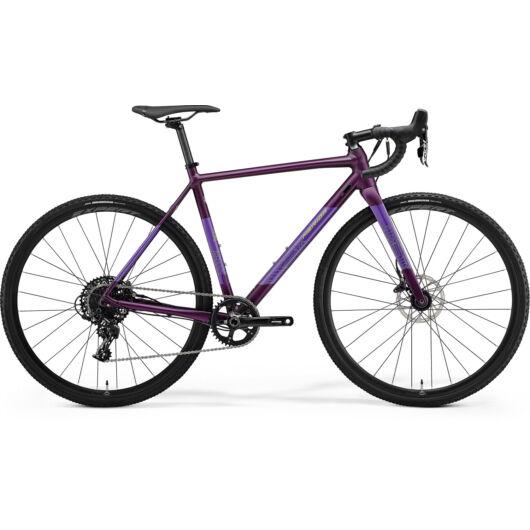 MERIDA kerékpár 2021 MISSION CX 600 MATT SÖTÉTLILA(EZÜST-ZÖLD)