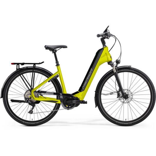 MERIDA kerékpár 2021 eSPRESSO CITY 500 EQ (43) SELYEM LIME(FEKETE)