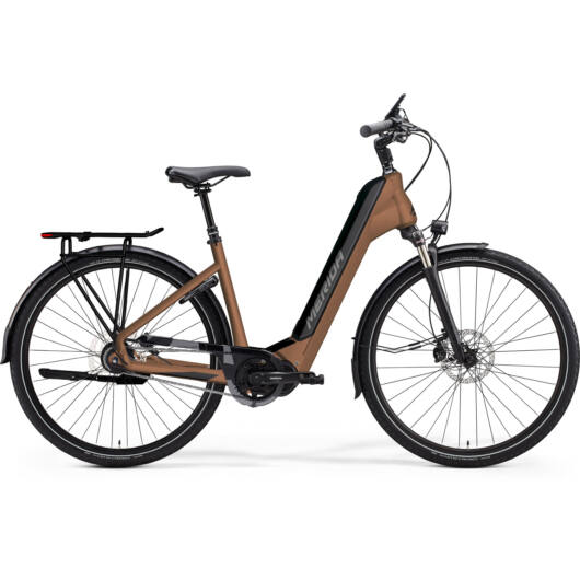 MERIDA kerékpár 2021 eSPRESSO CITY 700 EQ (43) BRONZ(FEKETE)
