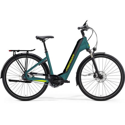 MERIDA kerékpár 2021 eSPRESSO CITY 700 EQ (43) SELYEM ZÖLDESKÉK-KÉK(LIME)