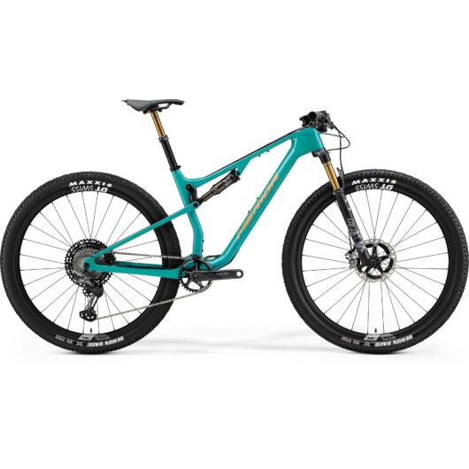 MERIDA kerékpár 2021 NINETY-SIX RC 9000 (19.5) METÁL ZÖLDESKÉK(FEKETE/ARANY)