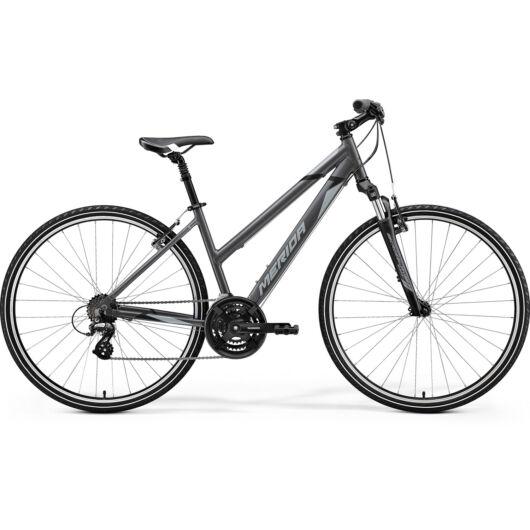 MERIDA kerékpár 2021 CROSSWAY 10-V NŐI SELYEM ANTRACIT(SZÜRKE/FEKETE)