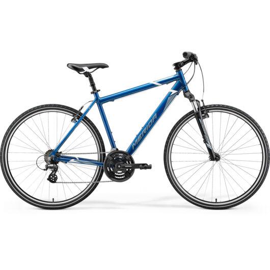 MERIDA kerékpár 2021 CROSSWAY 10-V KÉK(ACÉLKÉK/FEHÉR)
