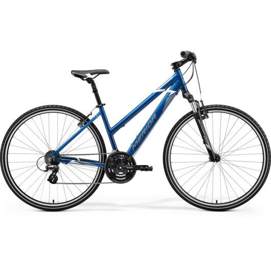 MERIDA kerékpár 2021 CROSSWAY 10-V NŐI KÉK(ACÉLKÉK/FEHÉR)