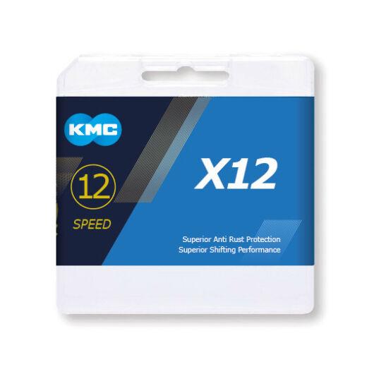 Lánc KMC X12 Silver 1/2x11/128 126L