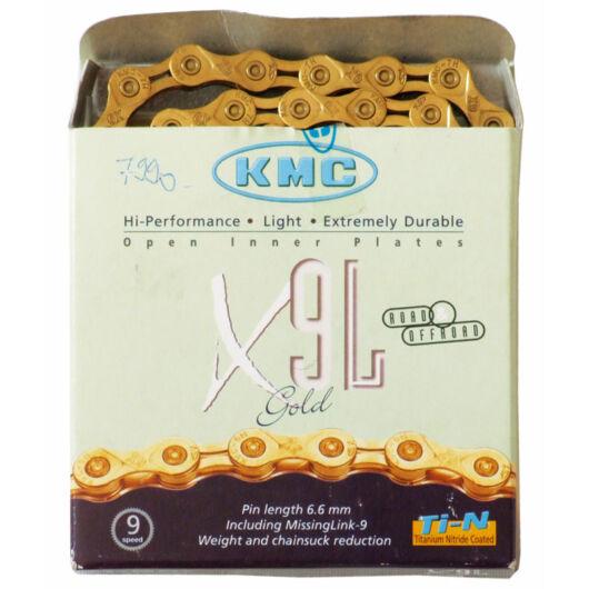 Lánc KMC X9SL arany