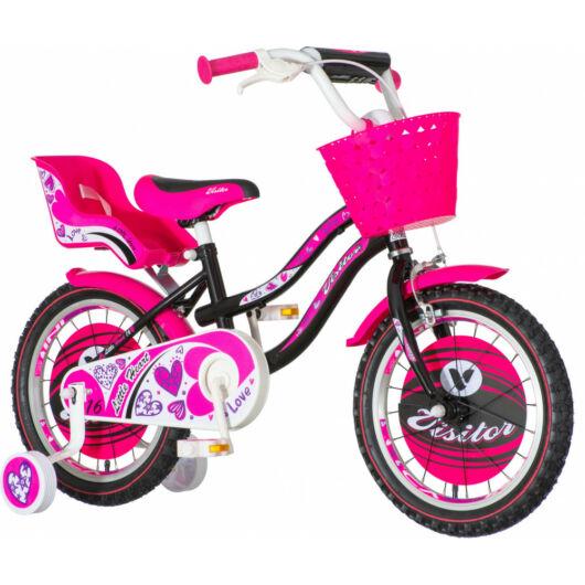 KPC Little Heart 16 szivecskés fekete gyerek kerékpár