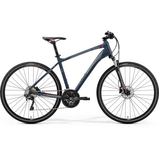 """72927-19 Merida crossway 600 28"""" férfi cross trekking kerékpár 2019 matt sötétszürke(piros/ezüst szürke)"""