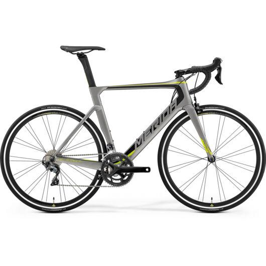 """70691-19 Merida REACTO 5000 28"""" férfi országúti kerékpár 2019 matt metálszürke(fekete/zöld)"""