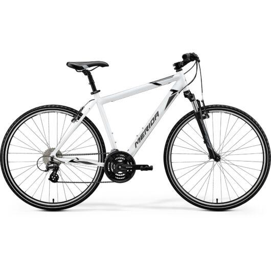 """41975-20 Merida crossway 15-V 28"""" férfi cross trekking kerékpár 2020 fényes fehér(fekete/szürke)"""