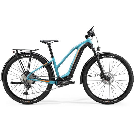 """27399-20 Merida eBIG.TOUR 500 EQ 29"""" férfi pedelec kerékpár 2020 matt kékeszöld/fekete(narancs)"""
