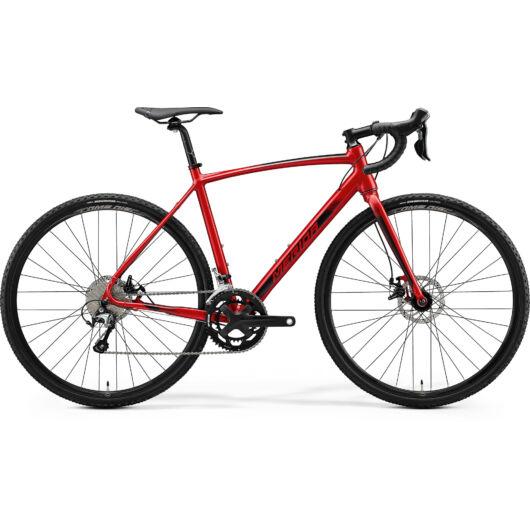 """31258-20 Merida MISSION CX 300E 28"""" férfi cross kerékpár 2020  selyem selyem bordó(fekete)"""
