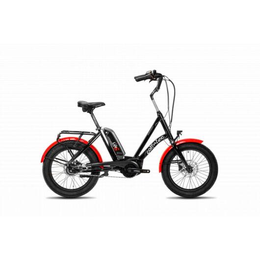 Corratec Life S AP5 elektromos rásegítésű kerékpár, fekete-piros, agyváltós