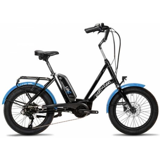 Corratec Life S AP5 RD 8 speed elektromos kerékpár, fekete-kék, láncváltó