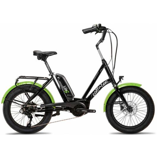 Corratec Life S AP5 RD 8 speed elektromos kerékpár, fekete-zöld, láncváltó