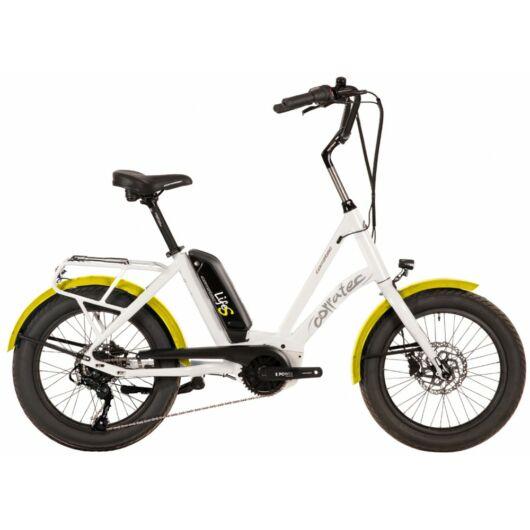 Corratec Life S AP5 RD 8 speed elektromos kerékpár, fehér-sárga, láncváltó