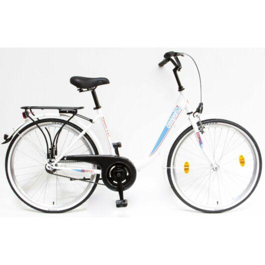 """Schwinn Csepel BUDAPEST B 26"""" 1 Sebességes Női városi kerékpár 2019 fehér 93901001FF"""