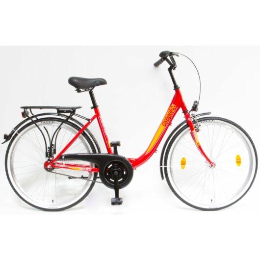 """Schwinn Csepel BUDAPEST B 26"""" 1 Sebességes Női városi kerékpár 2019 piros 93901001RD"""