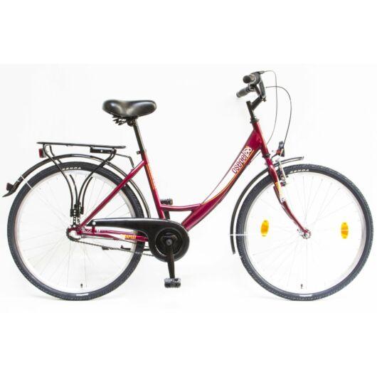 """Schwinn Csepel BUDAPEST A 26"""" 3 Sebességes Női városi kerékpár 2020 bordó 94000103BO"""